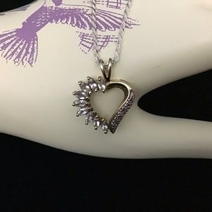 Heart Necklace 925 Sterling Silver